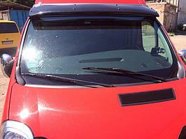 Opel Vivaro 2001-2015 рр. Козирок на лобове скло (чорний глянець, 5мм)