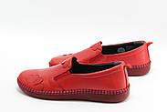 Красные кожаные  мокасины Burc 4035-kirmizi, фото 2