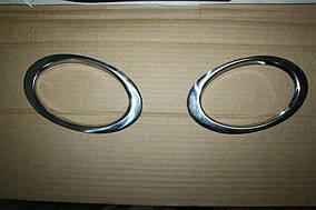 Nissan Qashqai 2010-2014 рр. Окантовка противотуманок тільки зовні (2 шт., нерж.)