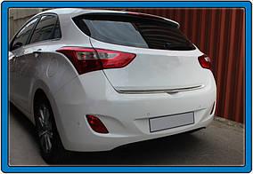 Hyundai I-30 2012-2017 рр. Кромка багажника (HB, нерж)