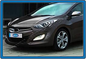 Hyundai I-30 2012-2017 рр. Накладка на решітку STYLE (нерж)