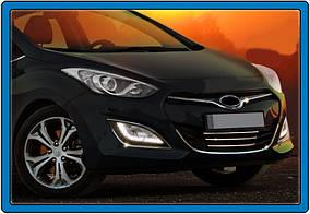 Hyundai I-30 2012-2017 рр. Накладки на нижню решітку і навколо STYLE (нерж)