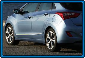 Hyundai I-30 2012-2017 рр. Молдинг дверний (4 шт., нерж.)