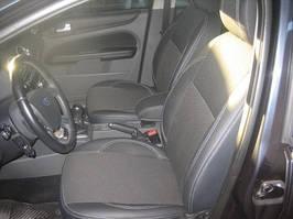Ford Focus II 2005-2008 гг. Авточехлы Экокожа-2021ткань