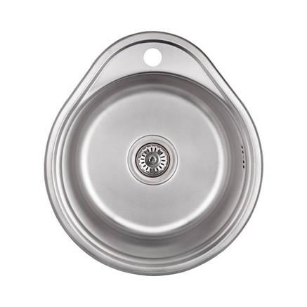 Кухонная мойка Lidz 4843 Decor 0,8 мм (LIDZ484306DEC), фото 2