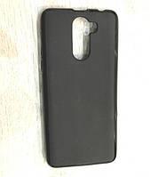 Силиконовый чехол Doogee X60 (X60L) (черный с матовой вставкой))