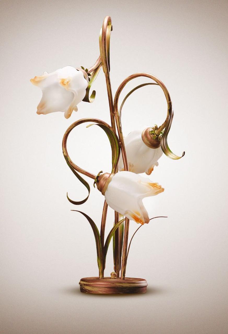 Настольная лампа в стиле флористика на 3 лампочки 1103