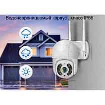 Уличная WIFI камера видеонаблюдения Full HD Hiseeu WHD812 PTZ 1080p, фото 2