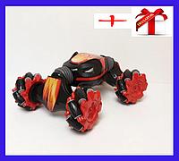 Машина-перевертыш на радиоуправлении Hyper Fire с роликовыми колесами 34 см Красная+++ПОДАРОК