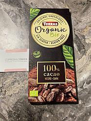Шоколад Torras 100% какао без глютена 100 грм