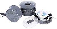 Набор посуды из анодированного алюминия на 2-3 персоны с рифлёным дном TRC-034 Tramp