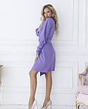 Фиолетовое платье с декольте на запах, фото 2
