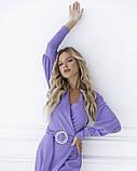 Фиолетовое платье с декольте на запах, фото 4