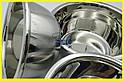 Набір мисок для змішування з нержавіючої сталі 3 штуки, фото 7