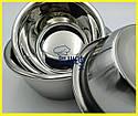 Набір мисок для змішування з нержавіючої сталі 3 штуки, фото 8