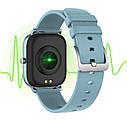 Смарт-годинник з вимірюванням пульсу і тиску Colmi P8 Pro Blue, фото 2