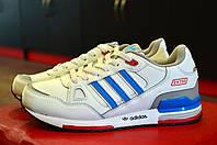 Белые спортивные кроссовки женские, подростковые Adidas ZX для спорта