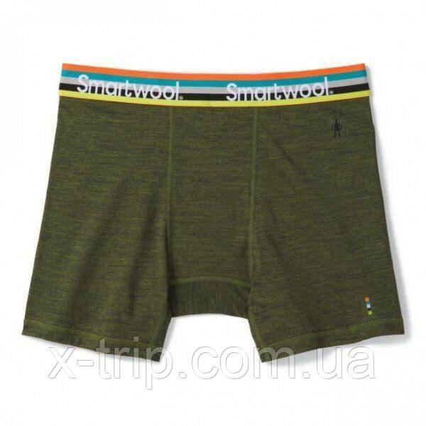 Трусы мужские Smartwool Merino Sport 150 Boxer Brief Moss Green Heather, L (SW 16202.B45-L)