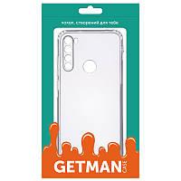 TPU чехол GETMAN Transparent 1,0 mm для Xiaomi Redmi Note 8T силиконовый прозрачный
