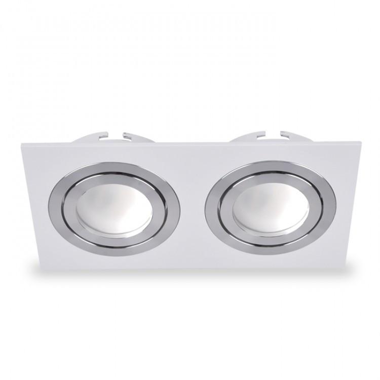 Точечный светильник DL6122 белый+хром поворотный