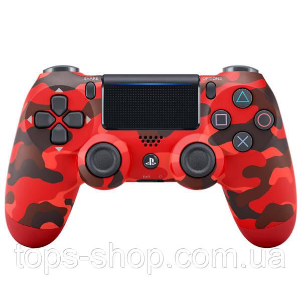 Джойстик геймпад Sony PS 4 DualShock 4 Wireless Controller Red Camouflage ( красный камуфляж )