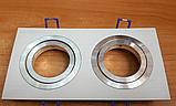 Точечный светильник DL6122 белый+хром поворотный, фото 2