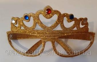 Очки для вечеринки Корона золотистая