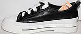 Кроссовки кожаные женские на шнурках от производителя модель КЛ2053, фото 7