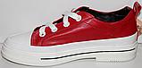 Кроссовки кожаные женские на шнурках от производителя модель КЛ2053, фото 3
