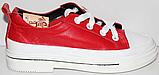 Кроссовки кожаные женские на шнурках от производителя модель КЛ2053, фото 2