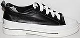 Кроссовки кожаные женские на шнурках от производителя модель КЛ2053, фото 5