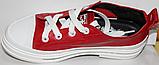 Кроссовки кожаные женские на шнурках от производителя модель КЛ2053, фото 4