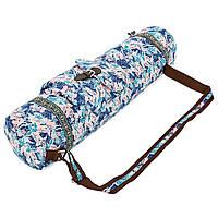 Сумка для йога коврика Yoga bag FODOKO FI-6972-6 (размер 16смх70см, полиэстер, хлопок, розовый-голубой)