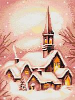 """Набор для вышивания крестом """"Luca-s""""  B401 Заснеженная церковь"""