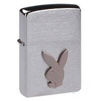 Запальничка Зиппо - Zippo Playboy Bunny покриття Brushed Chrome