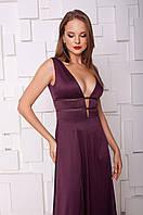 Женское вечернее платье винного цвета