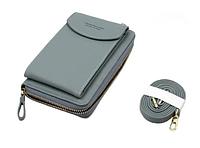 Гаманець клатч Forever Baellerry №8591 з відділенням для телефону Джинс, фото 1