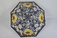 """Женский зонт полуавтомат с цветами от фирмы """"Feeling Rain"""" - 100-149"""
