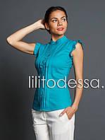 Блуза с крылышками бирюзовый