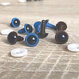 Кольорові вічка для іграшок 12 мм Блакитні, фото 2