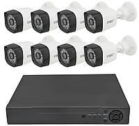 Комплект видеонаблюдения UKC D001-8CH AHD 1080P 3.6 мм 2 mp (8 камер) (5690)