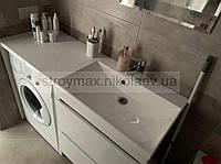 Умывальник над стиральной машиной AMELIA 1245 Правый (1245Х460х120 мм), белый