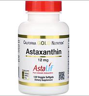 Астаксантин 12 мг 120 капсул США California Gold Nutrition антиоксидант из водорослей