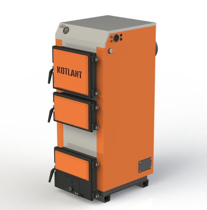 Твердопаливний котел тривалого горіння Kotlant КГ 18 кВт базова комплектація