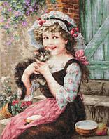 """Набор для вышивания крестом """"Luca-s"""" B538 Маленький котенок"""