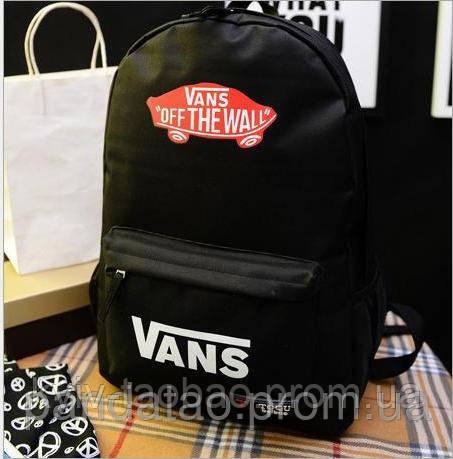 Рюкзак Vans Off the Wall классический черный с красным лого Vans