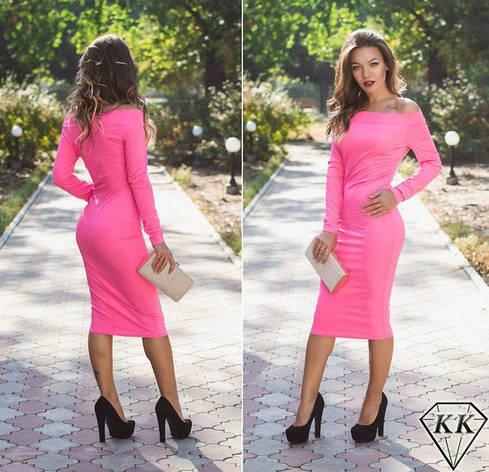 Розовое платье 15528, фото 2