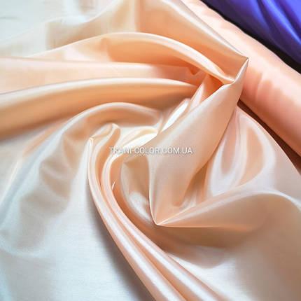 Тканина для підкладки нейлон персиковий 170Т, фото 2
