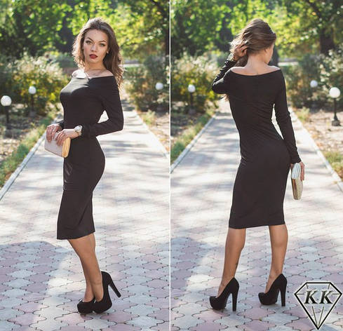 Черное платье 15528, фото 2