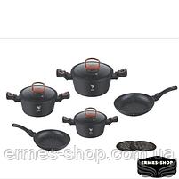Набор посуды Top Kitchen с мраморным покрытием (красный), фото 2